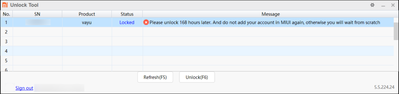 Xiaomi Unlock Tool